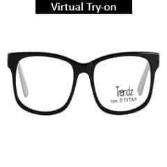 Titan Eye Plus Full Rim Squares Frames for Unisex-TR1082C1A1