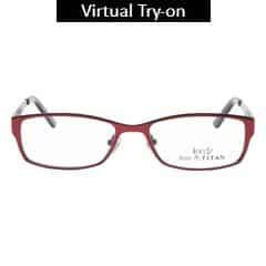 Titan Eye Plus Full Rim Rectangle Frames for Men-TR1111B1A1