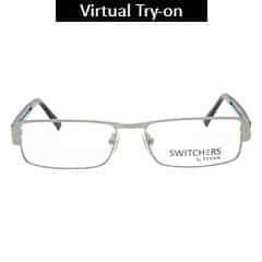 Titan Eye Plus Full Rim Rectangle Frames for Men-Y1071A1A1