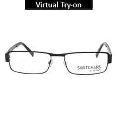 Titan Eye Plus Full Rim Rectangle Frames for Men-Y1071B1A1