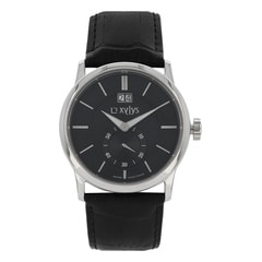 Xylys Classic Black Dial Multifunction Watch for Men