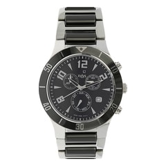 Xylys Black Dial Chronograph Watch for Men-NE9295DM02