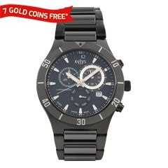 Xylys Black Dial Chronograph Watch for Men-9295DM03