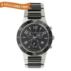 Xylys Black Dial Chronograph Watch for Men-NE9295DM02