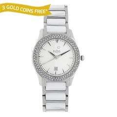 Xylys Classic Silver White Dial Analog With Date For Women