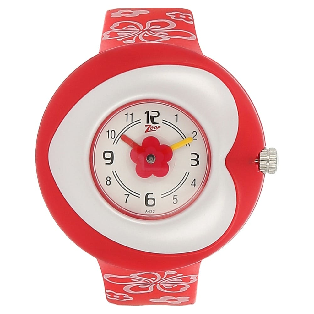 zoop analog silversilver variations watch for girls