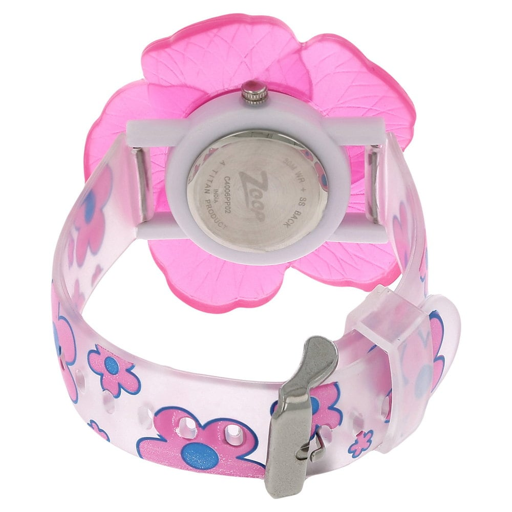 zoop analog silver white watch for girls id nec4006pp02cj