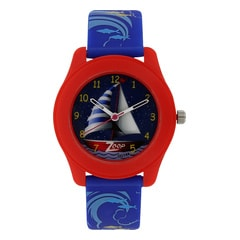 Zoop Travel Sailing Ship Printed Dial Analog Watch for Kids-16003PP03J