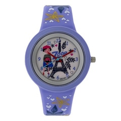 Zoop Travel Eiffel Tower Printed Dial Analog Watch for Kids-26006PP02