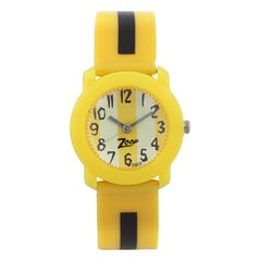Yellow Dial Plastic Strap Watch