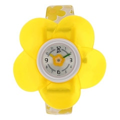 Zoop Yellow Flower Analog Watch for Girls-NDC4004PP01J
