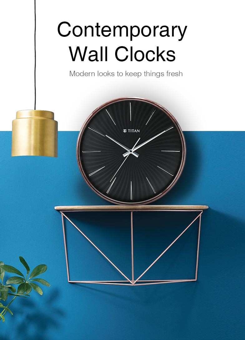 Buy Titan White Round Dial Silent Sweep Brown Case Wall Clock W0009pa01 Official Online Store Of Titan Titan Co In Titan